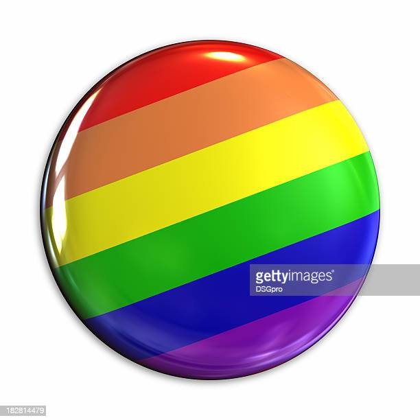 rainbow badge - brooch stock pictures, royalty-free photos & images