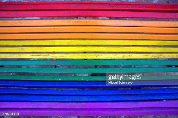 Rainbow bench