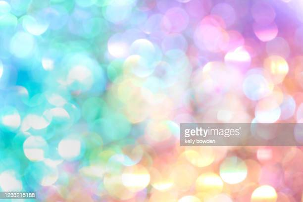 rainbow bokeh lights abstract background - kelly bowden stock pictures, royalty-free photos & images
