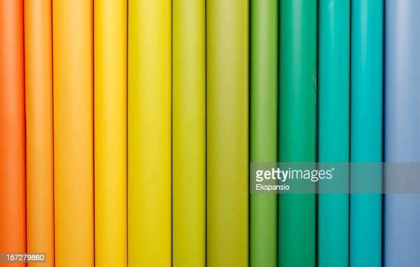 Rainbow Book Spines