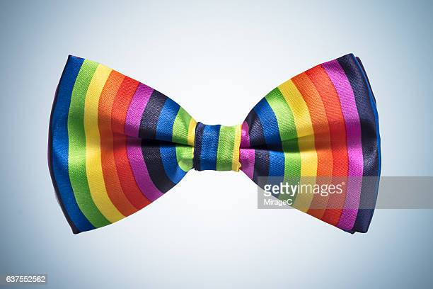rainbow bow tie - bow tie stock pictures, royalty-free photos & images