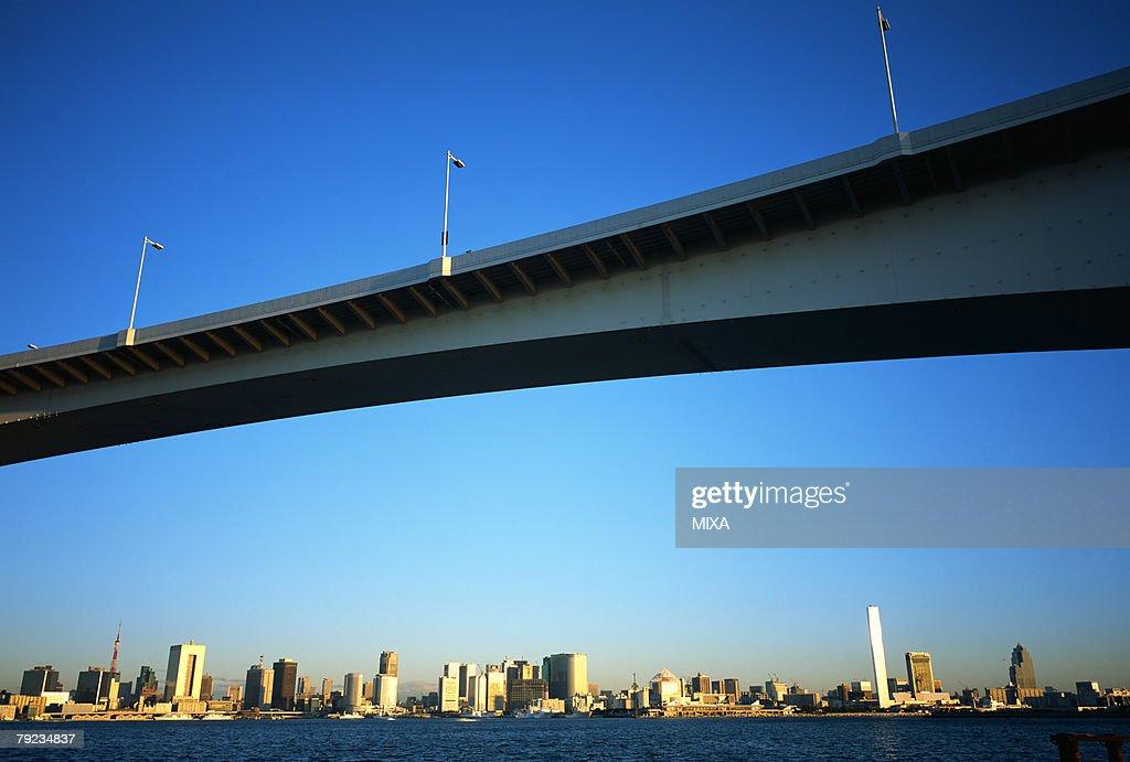 Rainbow bridge, Daiba, Tokyo, Japan : Stock Photo
