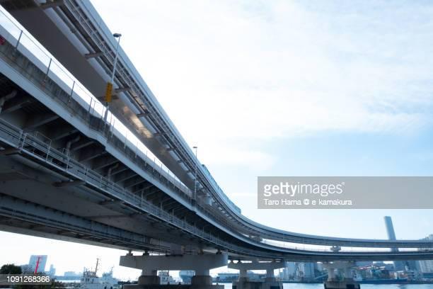 Rainbow Bridge in Tokyo in Japan