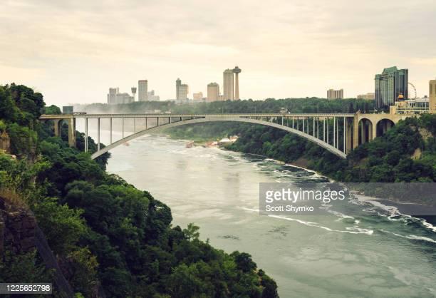 rainbow bridge, niagara falls gorge - escarpment stock pictures, royalty-free photos & images