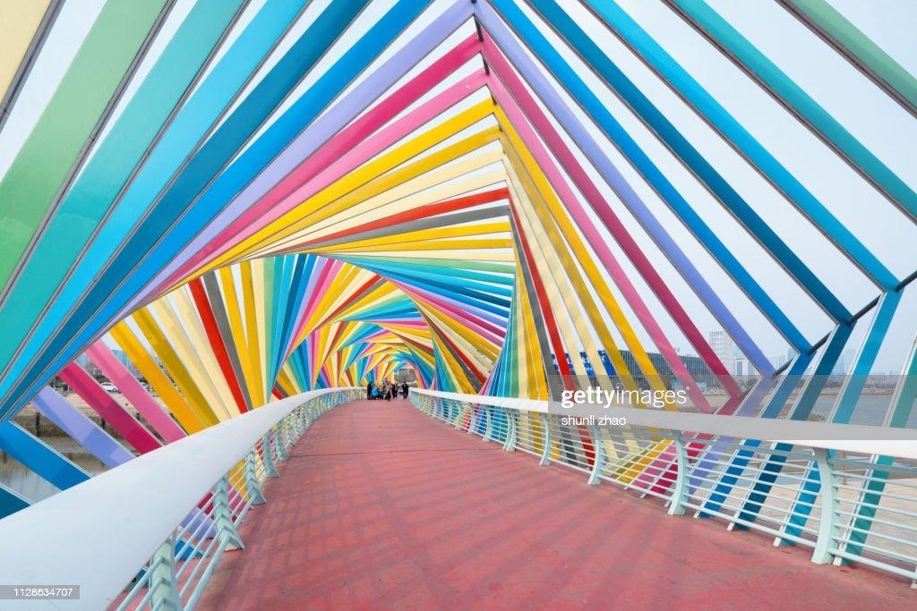 Rainbow Bridge, Qingdao City : Stock Photo