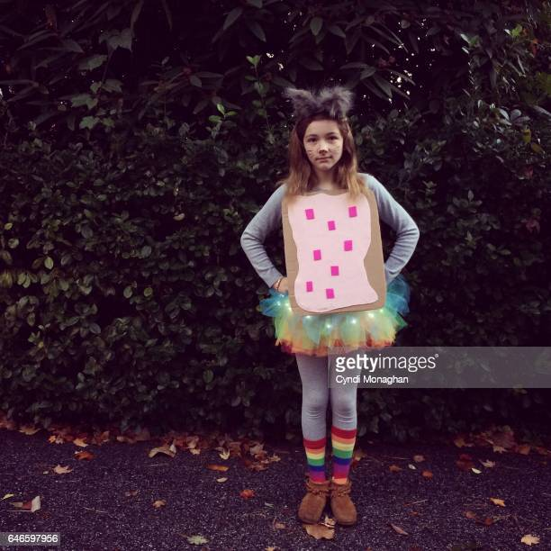 rainbow cat costume - naughty halloween stock photos and pictures