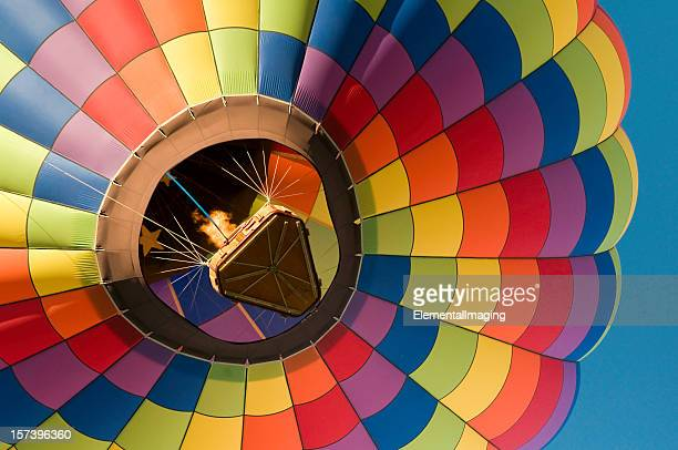 Rainbow Checkered Hot Air Balloon Close-Up
