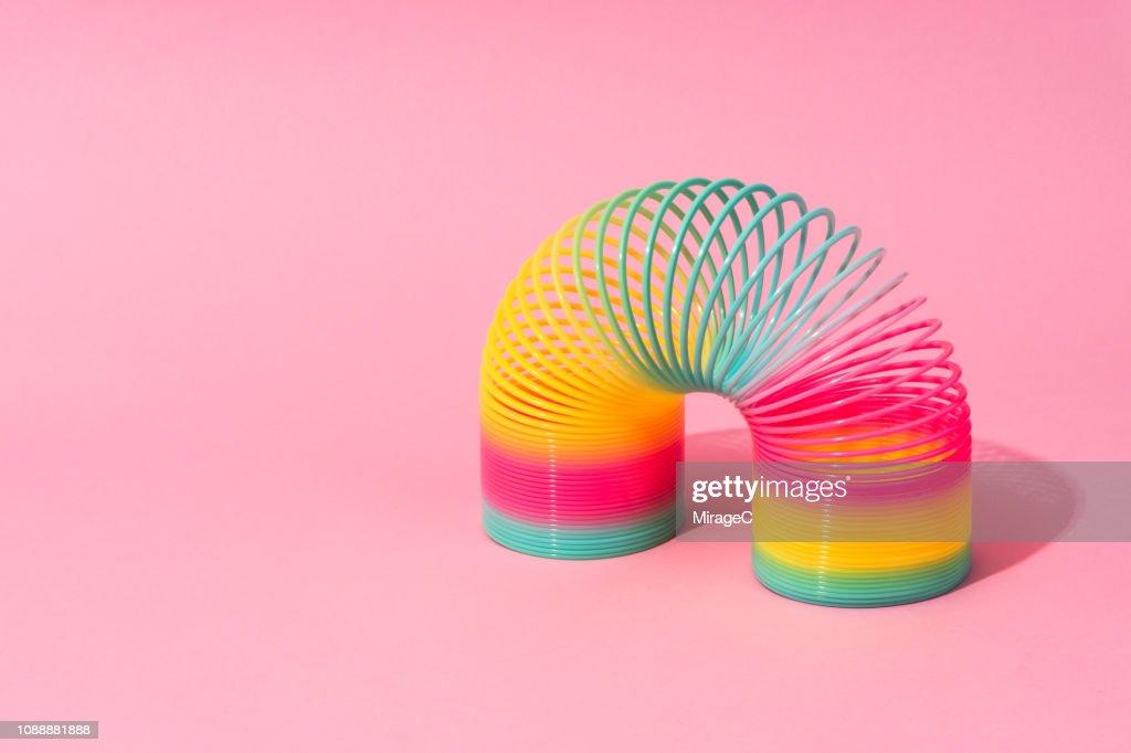 Rainbow Coil Toy : Stock Photo
