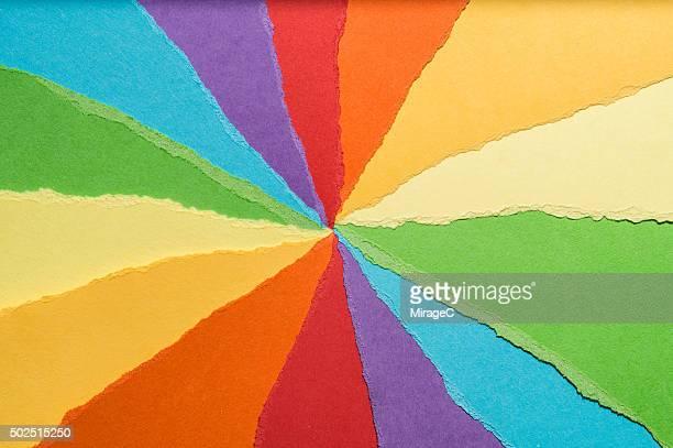 Rainbow Color Construction Paper Torn Pieces