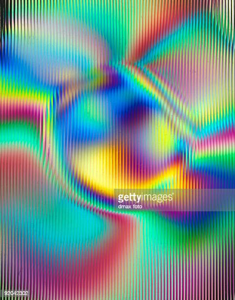 Rainbow Colored Abstract Macro