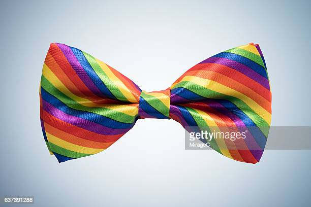 Rainbow Colored Bow Tie