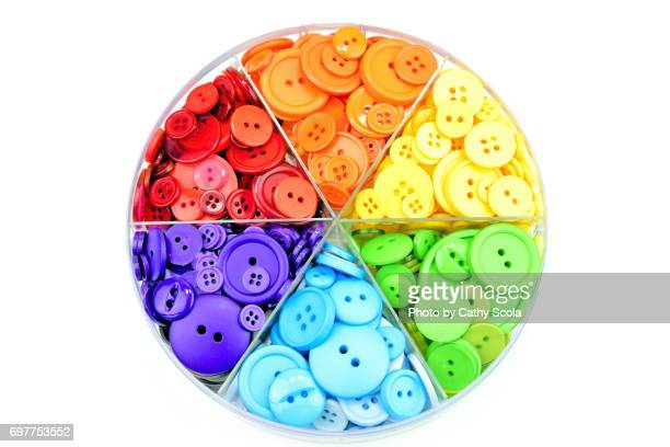 Rainbow Colored Buttons