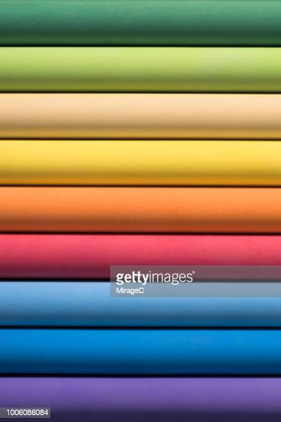 rainbow colored chalk texture - colors of rainbow in order stock pictures, royalty-free photos & images