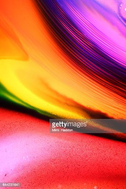 Rainbow Colored Dyes Moving in Water