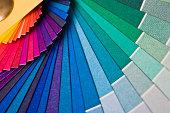 Rainbow Colored Fan