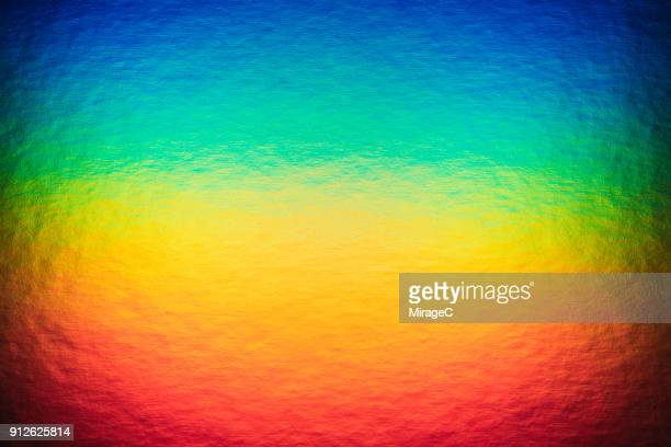 rainbow colored hologram foil paper - hologram stock photos and pictures