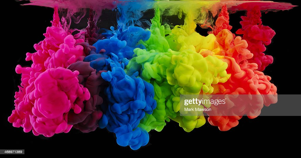 Rainbow Colored Ink Paint In Water Stock Photo | Getty Images