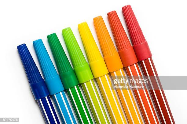 Rainbow Colored Markers