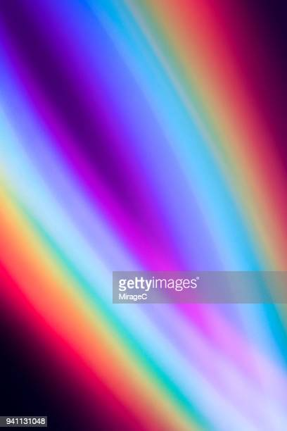 rainbow colored pattern - spectrum stock photos and pictures