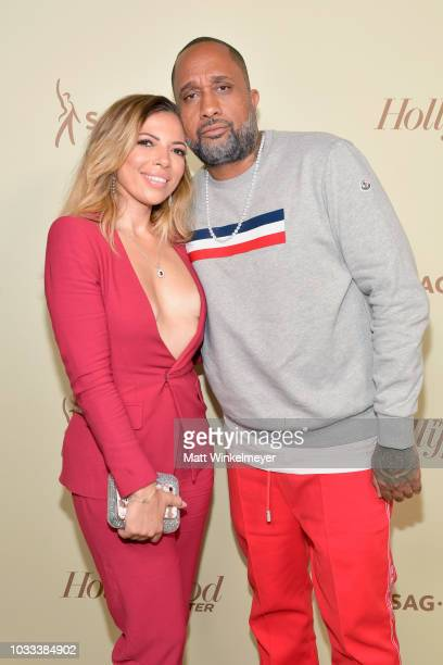Rainbow EdwardsBarris and Kenya Barris attend The Hollywood Reporter SAGAFTRA 2nd annual Emmy Nominees Night presented by Douglas Elliman and...