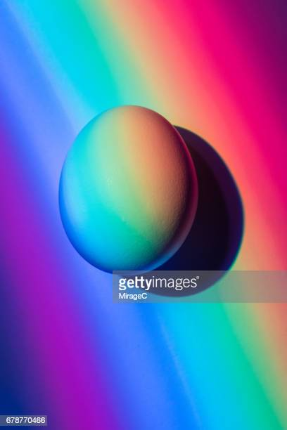 rainbow egg - hatching stock pictures, royalty-free photos & images