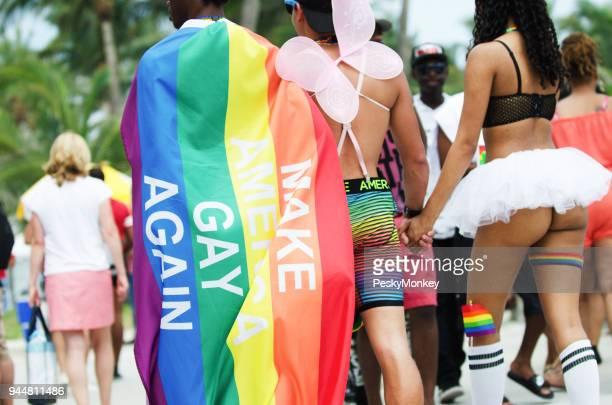 Rainbow Flag Message at Miami Beach Gay Pride 2018