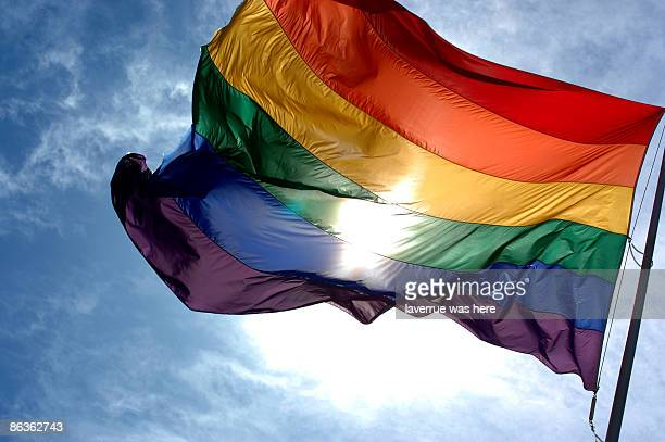 rainbow flag - pride flag stock pictures, royalty-free photos & images