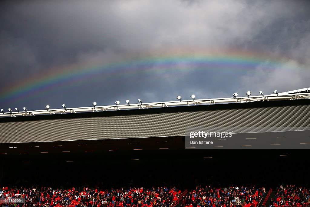 A rainbow forms over the stadium during the Sky Bet Championship match between Bristol City and Nottingham Forest at Ashton Gate on October 1, 2016 in Bristol, England.