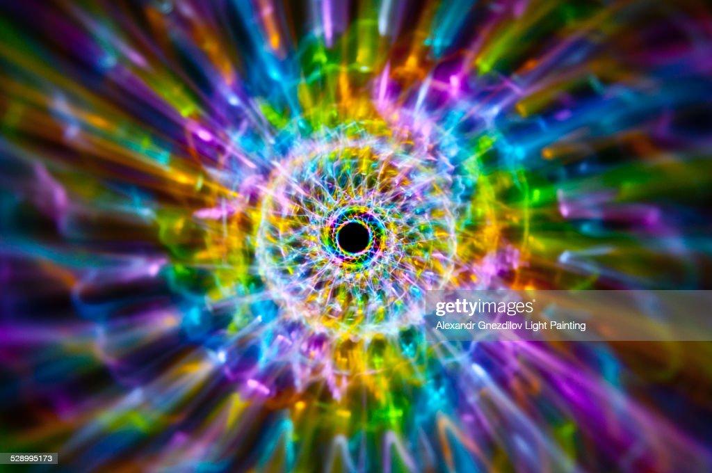 Rainbow Fossil / Abstract Light Painting : Stock Photo