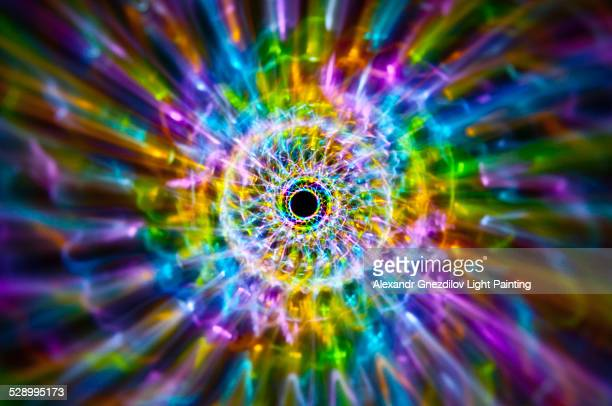 rainbow fossil / abstract light painting - lsd stock pictures, royalty-free photos & images