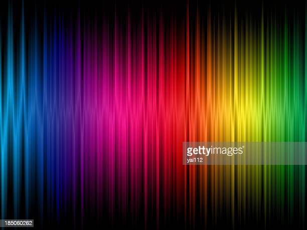 a rainbow frequency abstract background - spectrum stock pictures, royalty-free photos & images