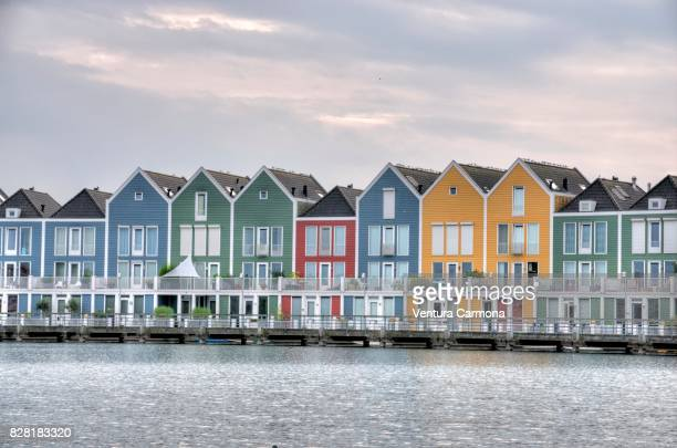 Rainbow Houses at the pond - Houten, The Netherlands