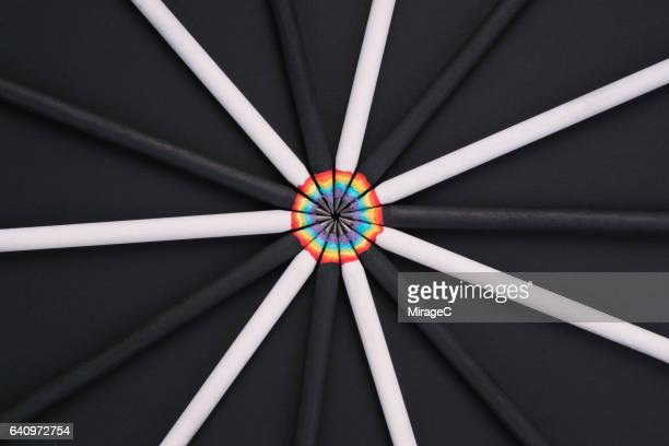 rainbow in pencil - colors of rainbow in order stock pictures, royalty-free photos & images