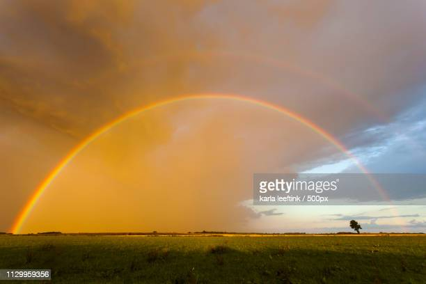 rainbow in the sky - drenthe stock pictures, royalty-free photos & images