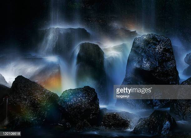 rainbow in waterfalls - isogawyi ストックフォトと画像