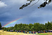 auchterarder scotland rainbow is seen as