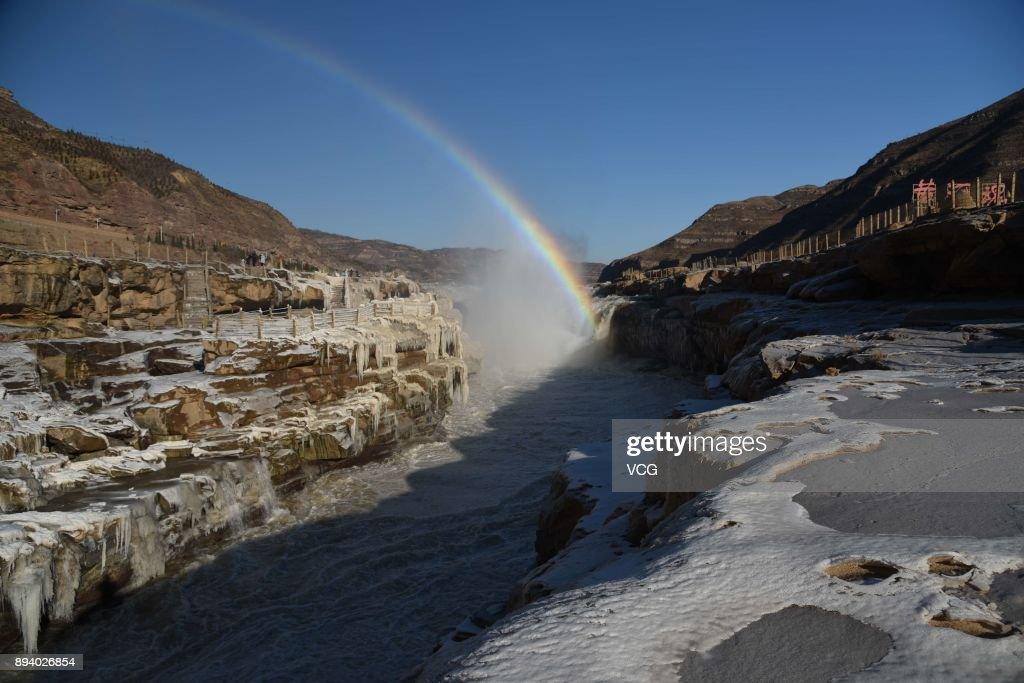 Hukou Waterfall Turns Into Icefall In Shanxi