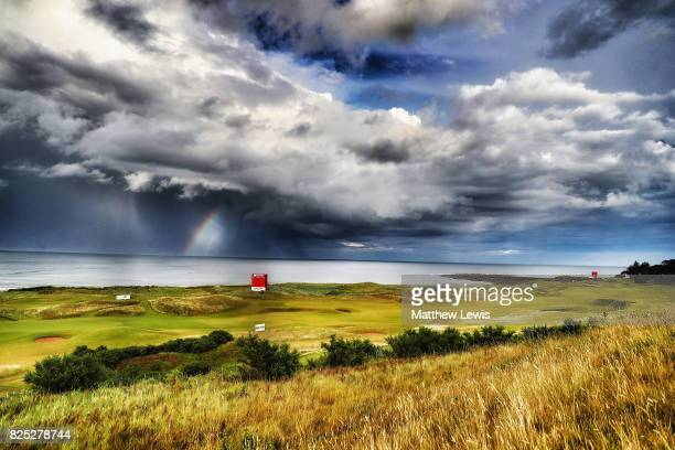 Rainbow is seen prior to the Ricoh Women's British Open at Kingsbarns Golf Links on August 1, 2017 in Kingsbarns, Scotland.