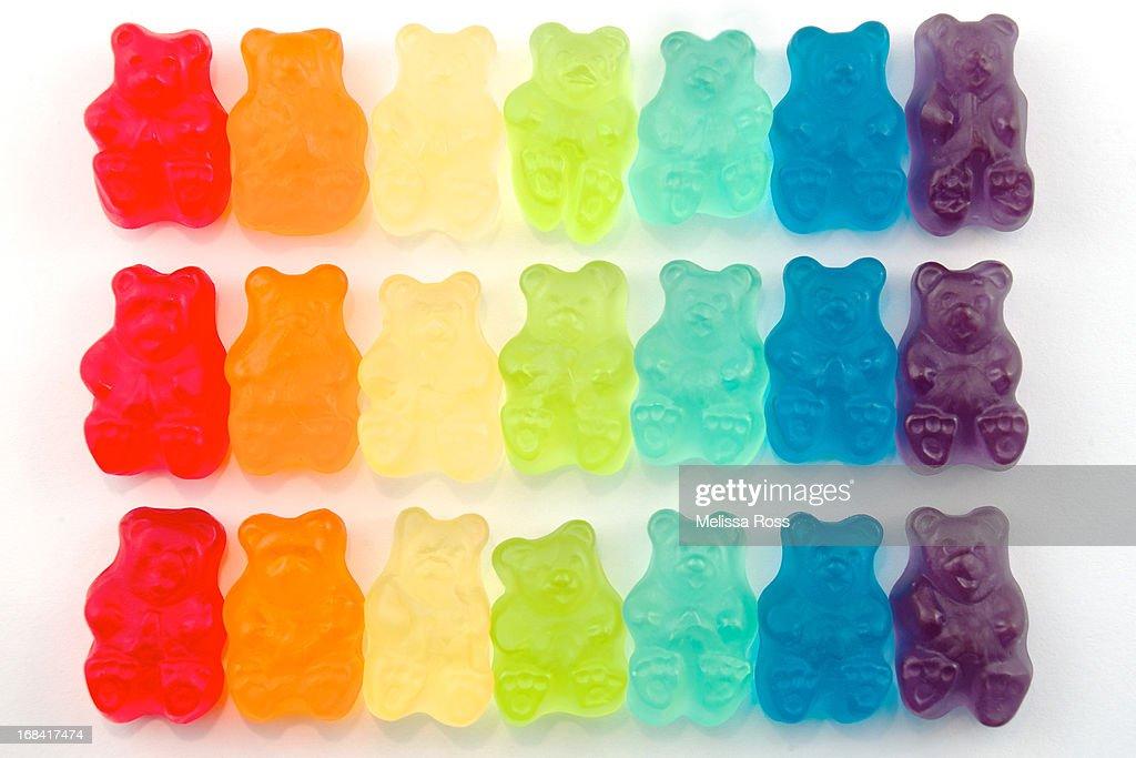 Rainbow Jelly Bear Candy : Stock Photo