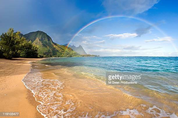 rainbow kauai - kauai stock pictures, royalty-free photos & images