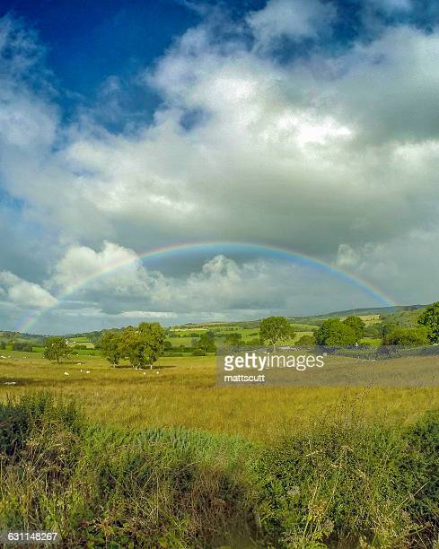 Rainbow lover landscape, Wales, UK