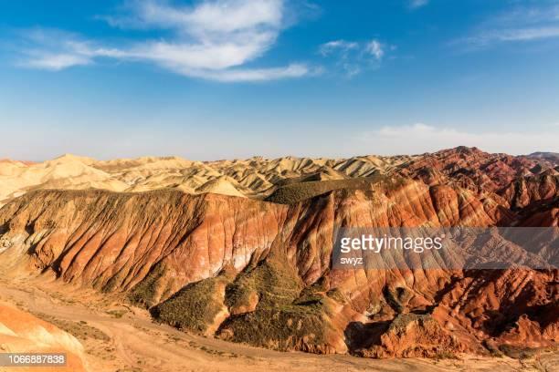 レインボー山張掖 danxia 国立ジオパーク, 甘粛省, 中国。 - 甘粛張掖国家地質公園 ストックフォトと画像