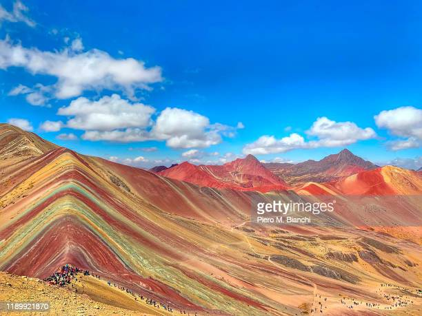 rainbow mountains - peru stock pictures, royalty-free photos & images