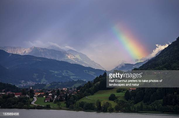 rainbow nearby immenstadt ,allgäu , august 2012 (e - natur stock pictures, royalty-free photos & images