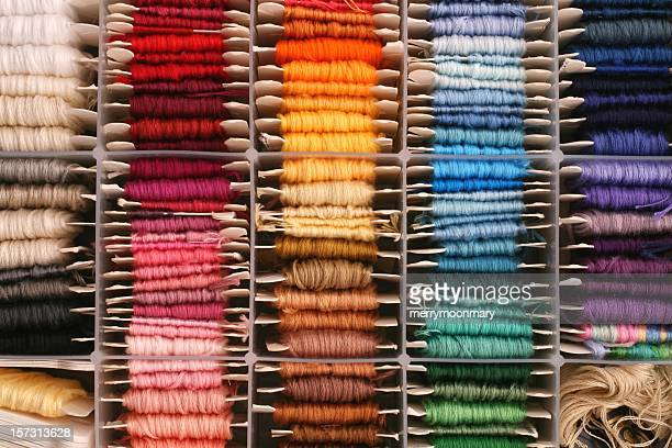 rainbow of embroidery thread