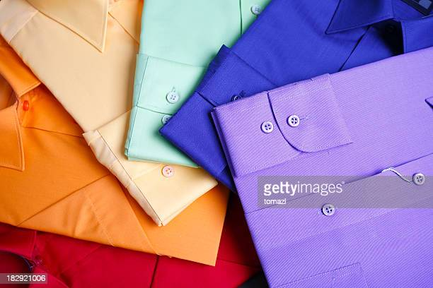 Rainbow of shirts
