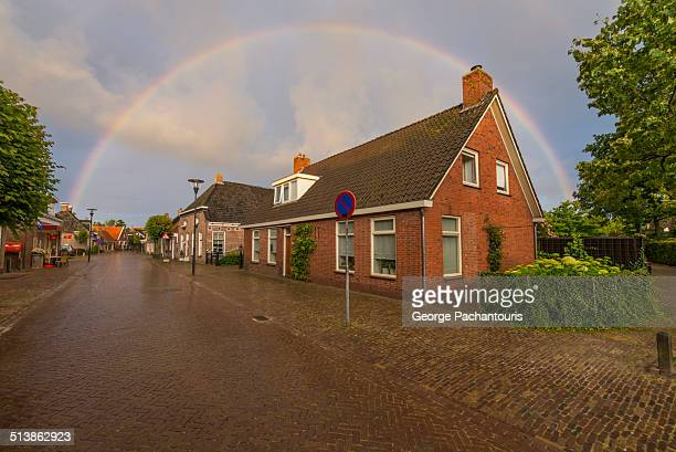 Rainbow over a house in the village of Eastermar