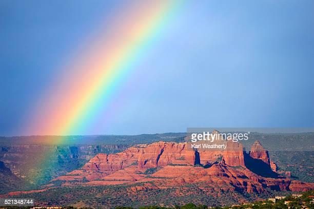 Rainbow Over Desert