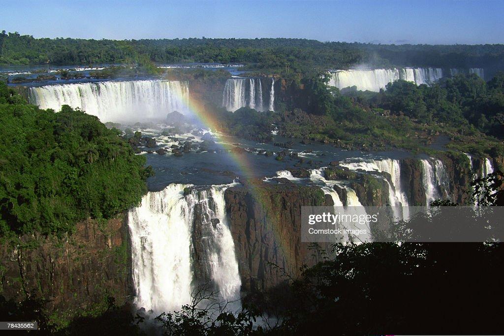 Rainbow over Iguazu Falls , Argentina : Stockfoto