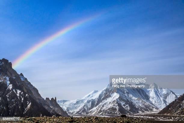 Rainbow Over Karakoram, Concordia To K2BC, K2 Base Camp Trek, Central Karakoram National Park, Gilgit-Baltistan, Pakistan